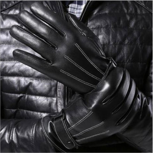 Motorcycle-Gloves-Real-Solid-Adult-Free-Shipping-2015-Hot-Sale-1pair-Men-Luxurious-Pu-Leather-Winter