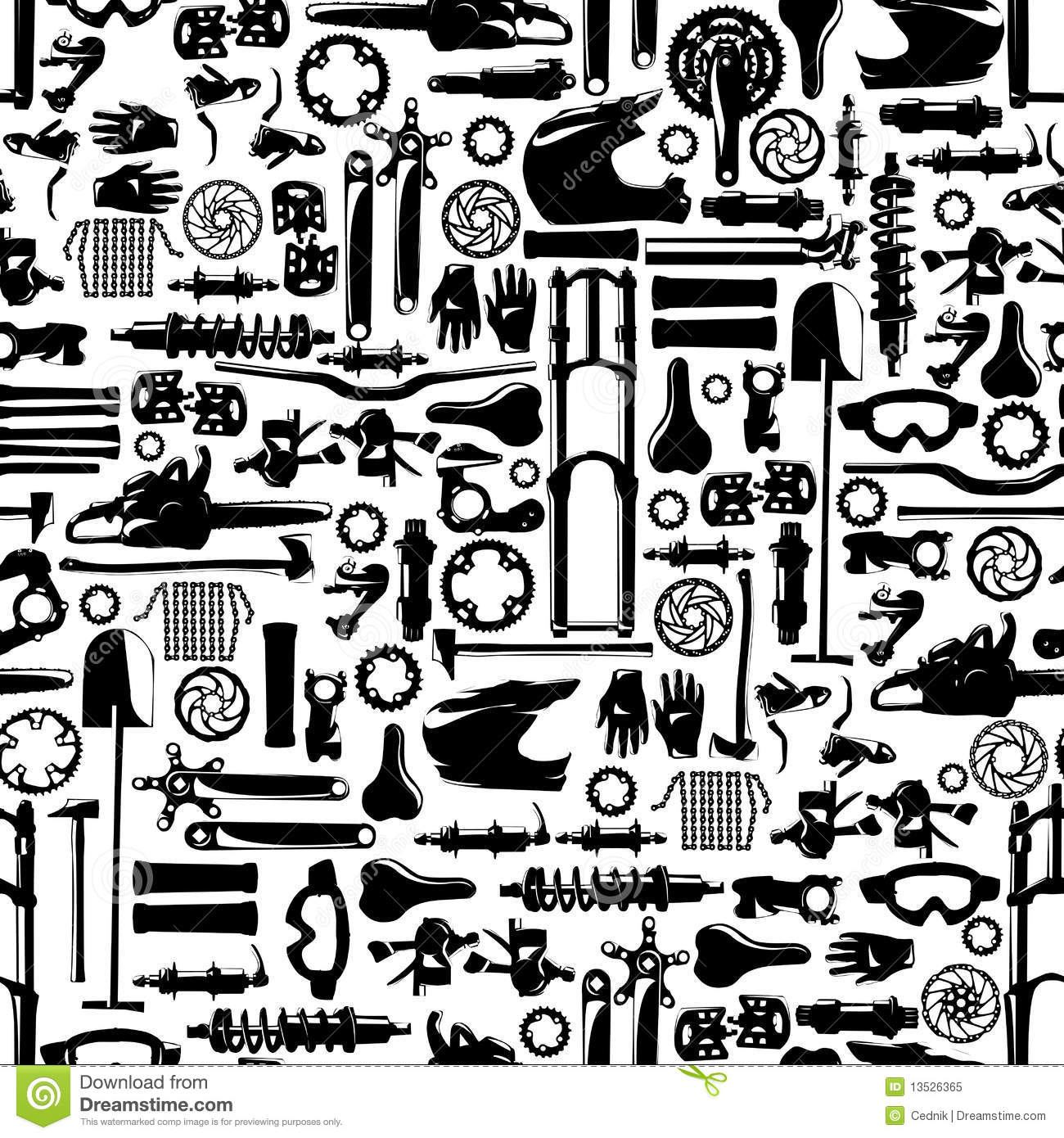 big-bike-part-vector-colletion-seamless-pattern-13526365