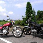 過去に乗ったバイク SR400とスタンダートとキック